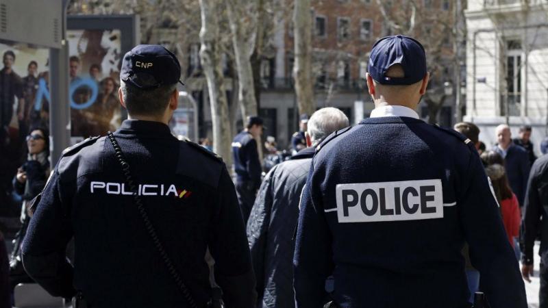Reforço da segurança em Madrid (EPA)