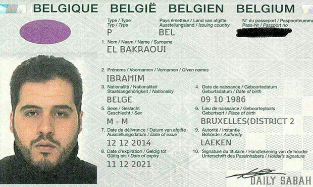 Passaporte de Ibrahim El Bakraoui (foto: Daily Sabat/Reprodução)
