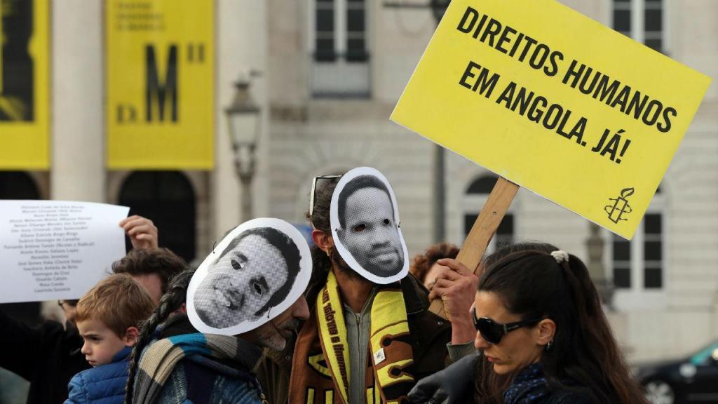 Manifestação em Lisboa contra prisão de ativistas angolanos