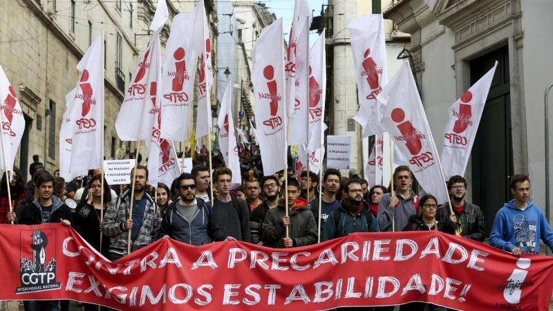Manifestação contra a precariedade laboral