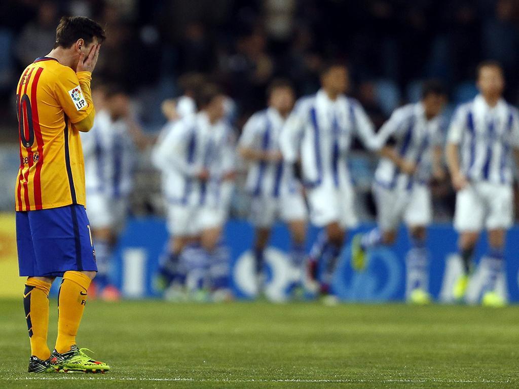 Real Sociedad-Barcelona (Lusa)