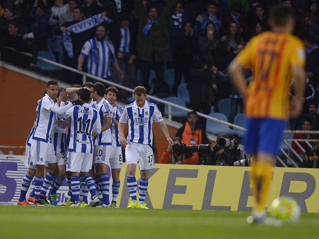 Real Sociedad-Barcelona (Reuters)