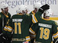 Hóquei no Gelo: Bulgária vs Austrália (EPA)