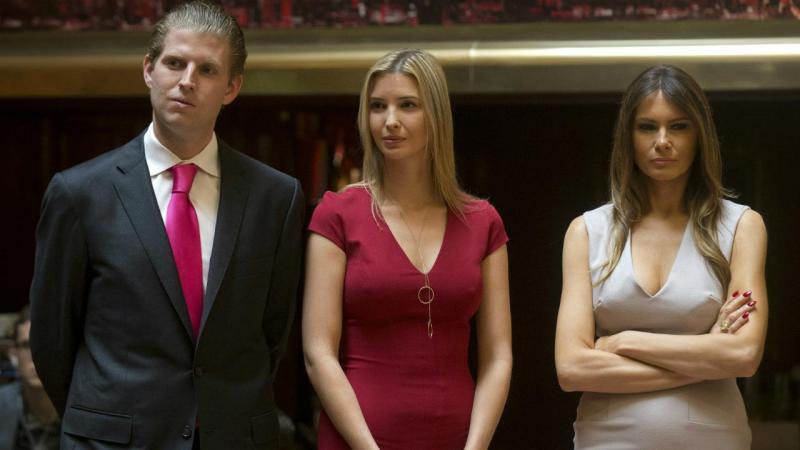 Eric, Ivanka e Melania Trump