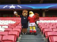 Águia recebeu Bernie no Estádio da Luz