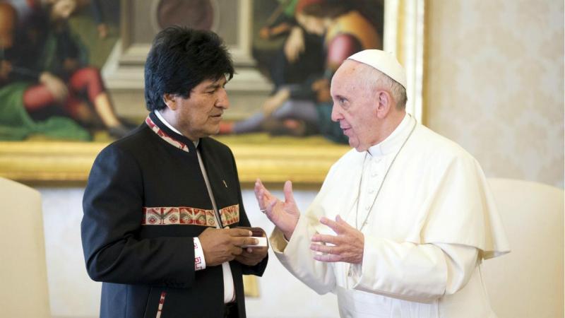 Presidente da Bolívia e Papa Francisco