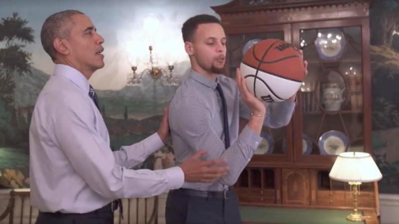 Barack Obama e Stephen Curry