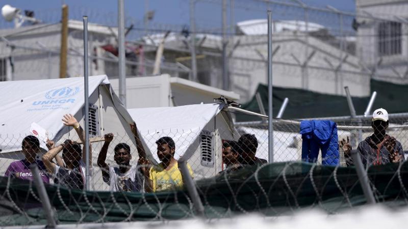 Refugiados na ilha de Lesbos, Grécia