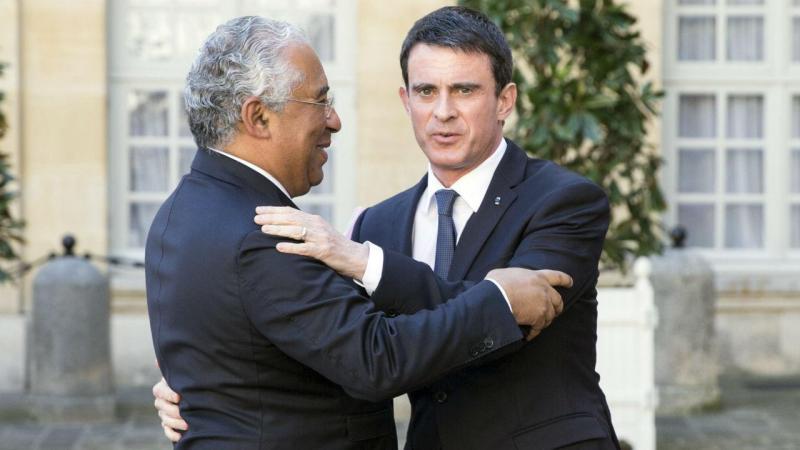 António Costa com Manuel Valls