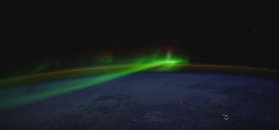Aurora polar [Reprodução: Youtube/NASA]