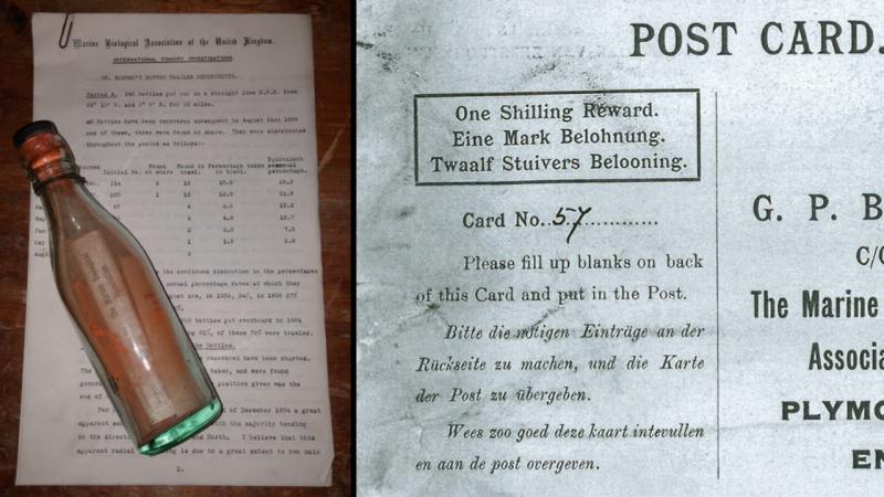 Mensagem numa garrafa é encontrada depois de 108 anos à deriva