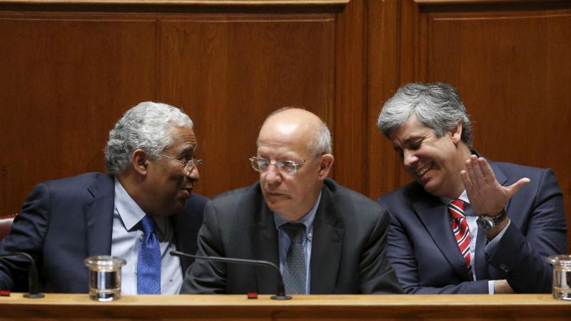 António Costa, Augusto Santos Silva e Mário Centeno