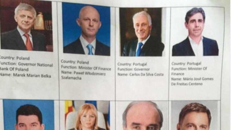 Eurogrupo troca foto de Mário Centeno por uma imagem do jornalista José Gomes Ferreira
