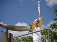 Rosa Mota transportou Tocha Olímpica Rio 2016 na Grécia