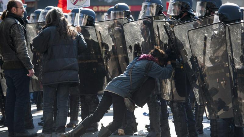 Manifestação do 1.º de maio em Paris