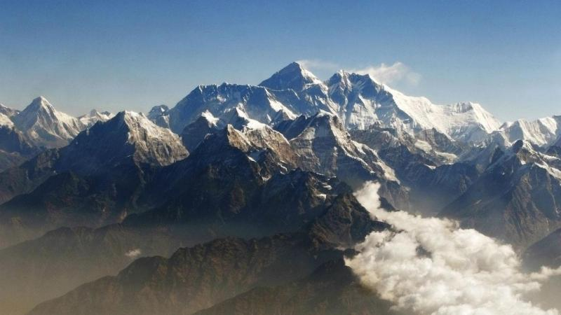 Monte Everest, na cordilheira do Himalaia