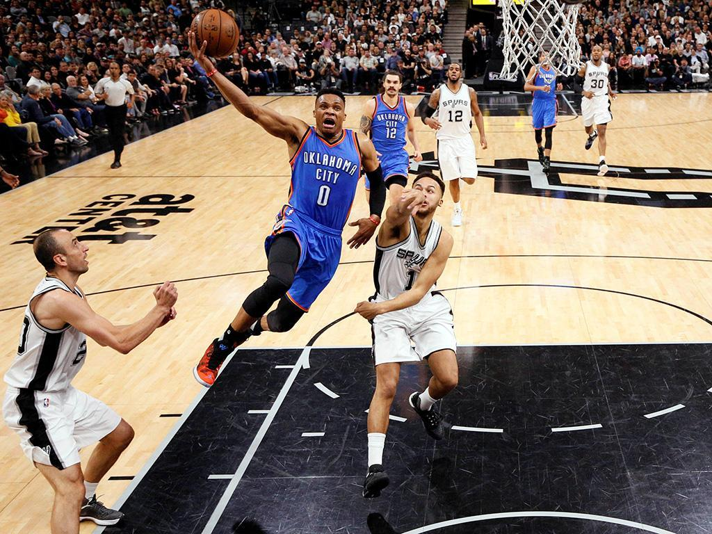San Antonio Spurs-Oklahoma Thunder (Reuters)