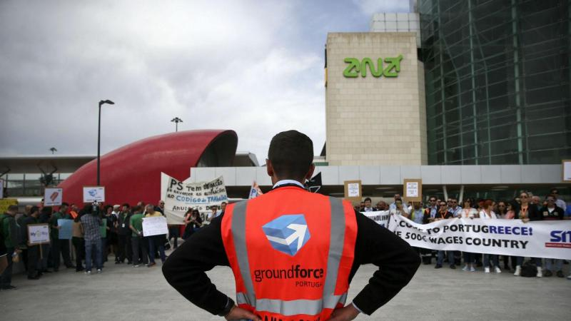 Protesto do Handling no Aeroporto de Lisboa