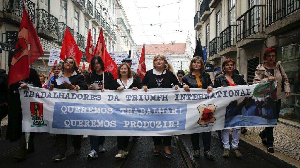 Manifestação de trabalhadores da Triumph