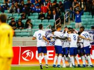 Sub-17 estrearam-se com goleada frente ao Azerbaijão (Foto: André Sanano/FPF)