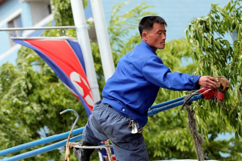 Pyongyang engalanada para o Congresso do Partido Único da Coreia