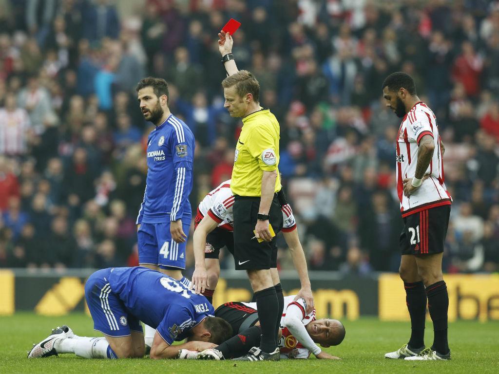 John Terry expulso frente ao Sunderland (Foto Ed Sykes/Reuters)