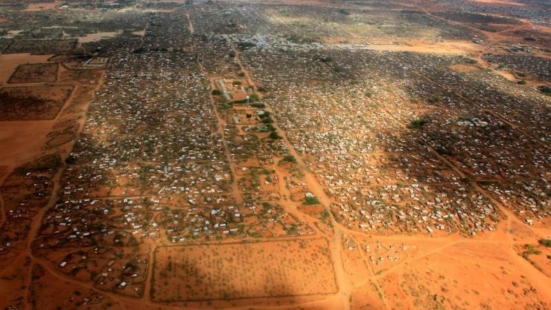Imagem aérea do campo de Dadaab, no Quénia