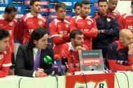 Rayo Vallecano em conferência de imprensa