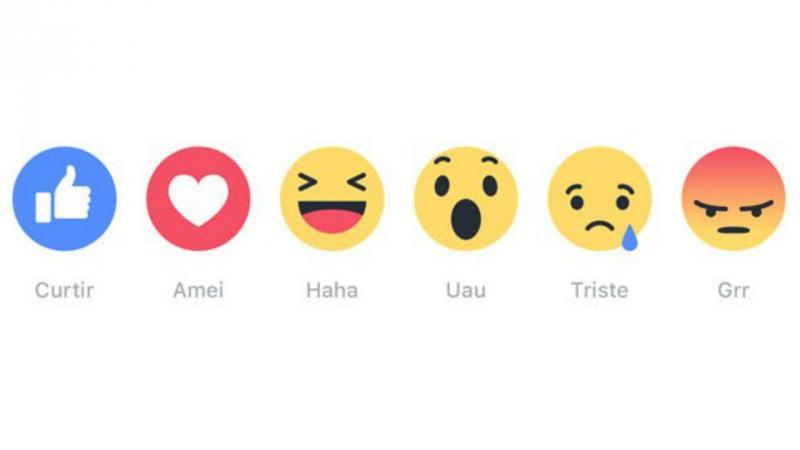 Botão das reações do Facebook