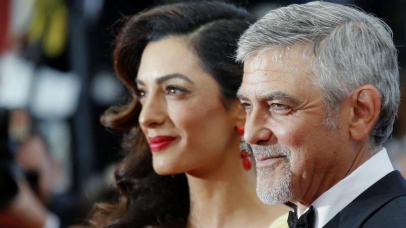 O casal Amal e George Clooney