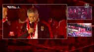 Luís Filipe Vieira fala aos adeptos no Marquês