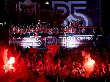 Benfica: mar vermelho na festa do Marquês