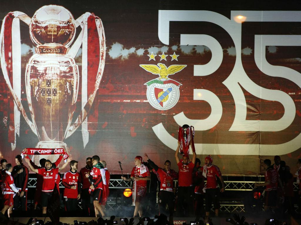 Benfica: a festa no Marquês