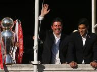 Benfica recebido na Câmara de Lisboa (LUSA)