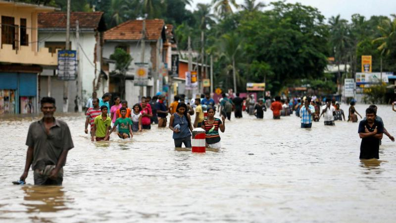 Cheias no Sri Lanka [Foto: Reuters]