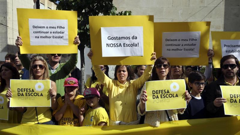 Protesto de colégios em Coimbra