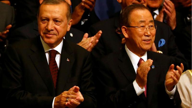 Presidente turco com o secretário-geral da ONU