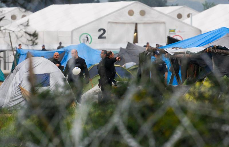 Evacuação do campo de refugiados de Idomeni, na Grécia