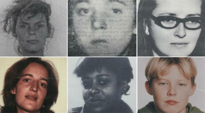 As vítimas de Manfred Seel [Reprodução: Polícia de Hessen]