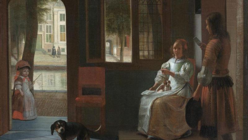 Pintura a óleo de Pieter De Hooch