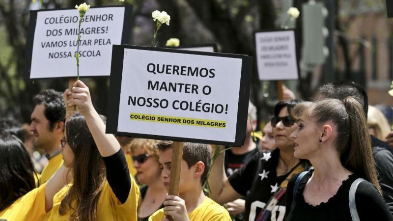 Protesto dos colégios com contratos de associação em Lisboa