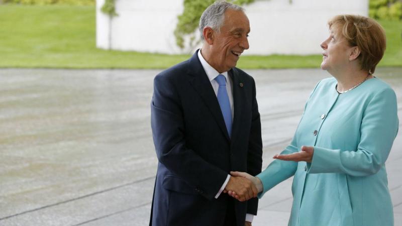 Marcelo Rebelo de Sousa e Angela Merkel