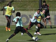 Treino da seleção com Bruno Alves e Nani (Fotos EPA/JOAO RELVAS)