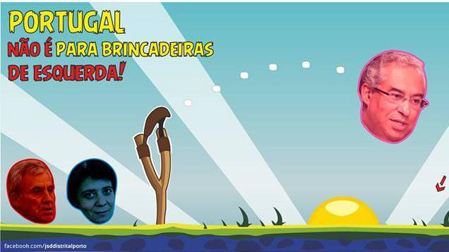 Cartaz da JSD transforma António Costa em