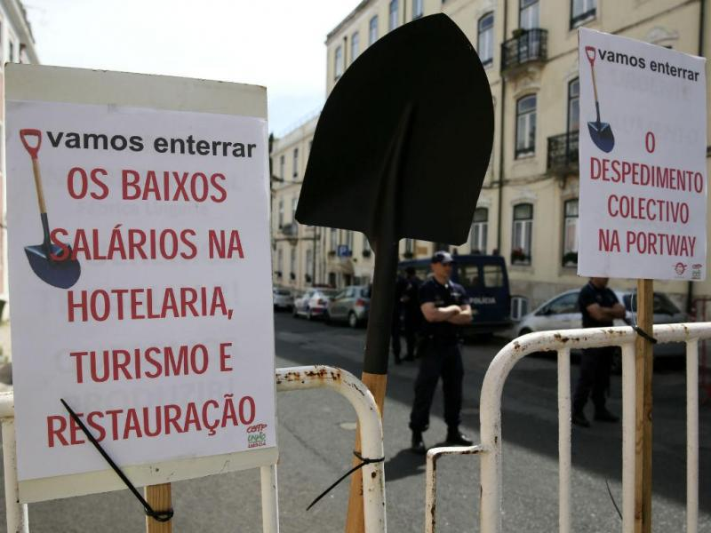 Protesto da Fectrans e CGTP em S. Bento