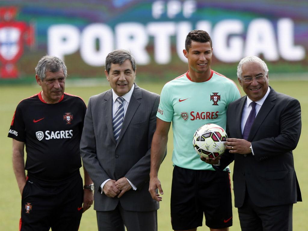António Costa com Ronaldo