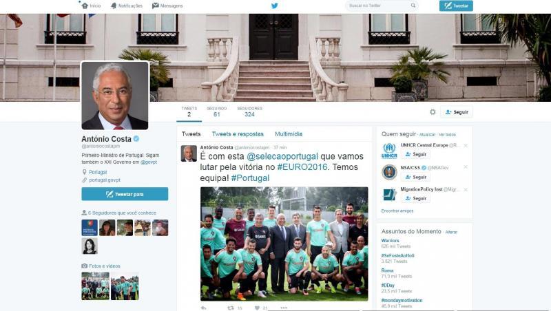 António Costa no Twitter