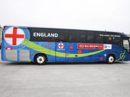 Autocarro da Inglaterra em França (Lusa)