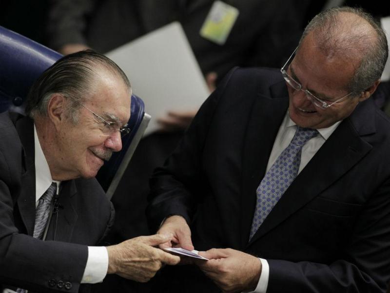 José Sarney com Renan Calheiros