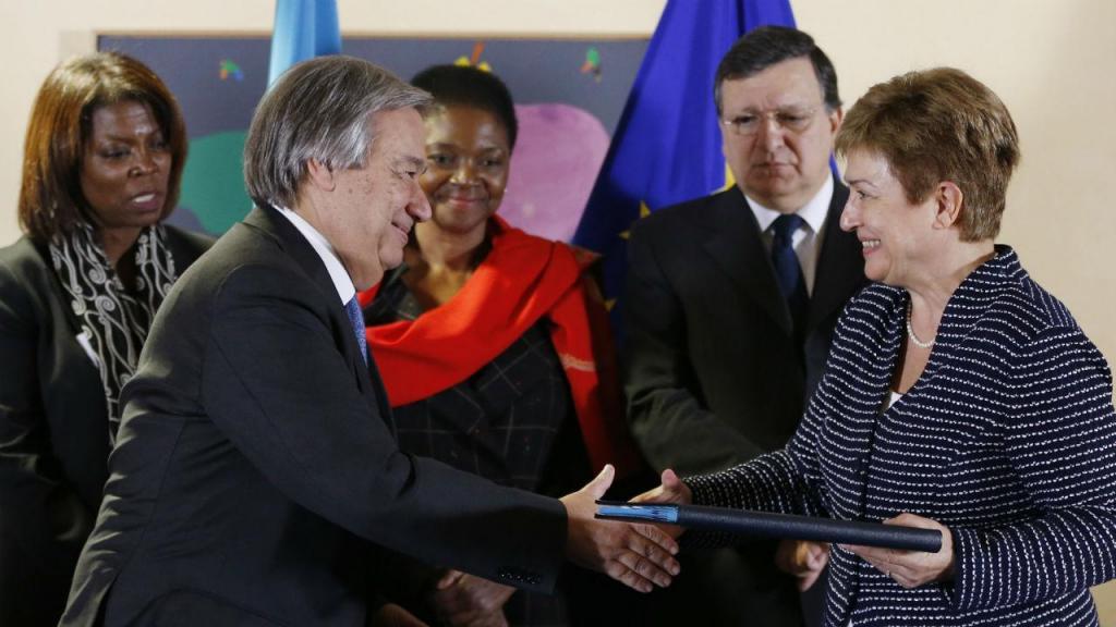 António Guterres, Durão Barroso e Kristalina Georgieva
